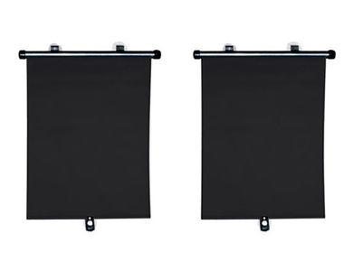 Speedwav Car Side Window Roller Curtain/Sunshades (Set of 2) - Black