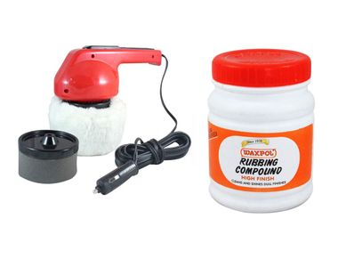 Coido 6003 Car Polisher+Waxpol Rubbing Compound Polish and Shiner