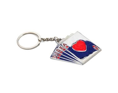 Accedre Designer Playing Cards Metal Keychain For Car/Bike