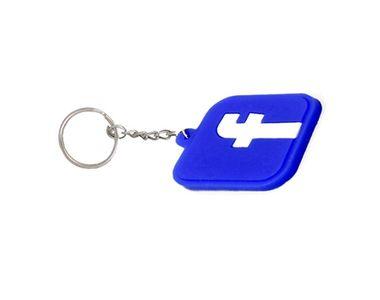 Accedre Designer Facebook Logo Soft Rubber Keychain For Car/Bike