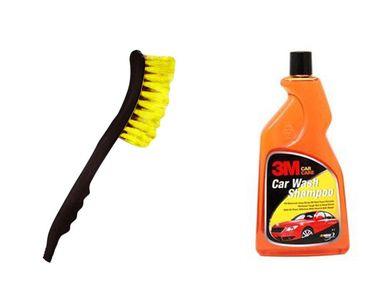 Combo of 3M Shampoo(500 ML)+Speedwav 2 in 1 Cleaning Brush with Water Spray