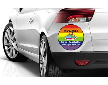 Speedwav Quirky Car Bumper Sticker-Straight So is Spaghetti Until you heat up