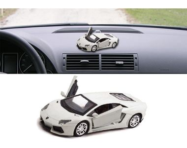 Lamborghini Aventador 3 in 1 Car Perfume With Pull Back Action-WHITE