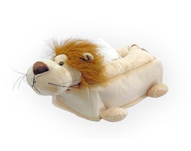 Speedwav Premium Soft Touch Car Tissue Box Cover Lion - Beige
