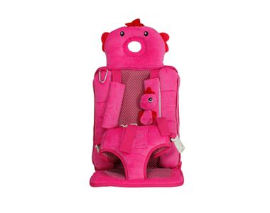Speedwav Cute Teddy Designer Foldable Car Baby Seat-Pink