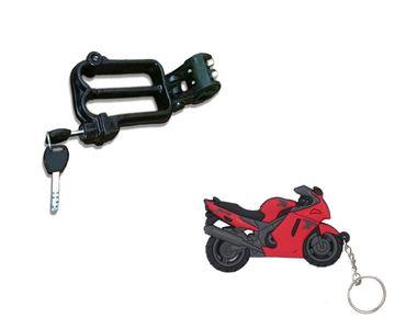 Speedwav Bike Helmet Security Lock + Speedwav Superbike Shaped Keychain