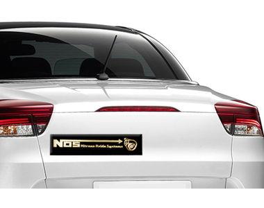 Type R Stylish Decorative Metal Decal Badge Black & Golden-NOS