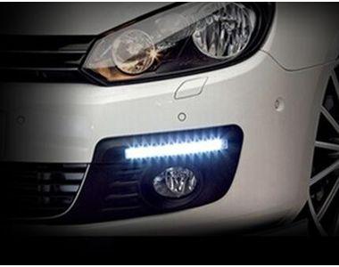 Speedwav Dotted 12 LED White DRL Daytime Lights Set Of 2