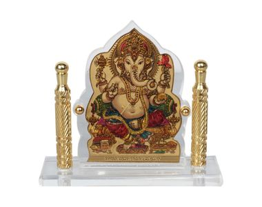 Speedwav Car Dashboard God Idol- Ganesh Ji Golden Pillar