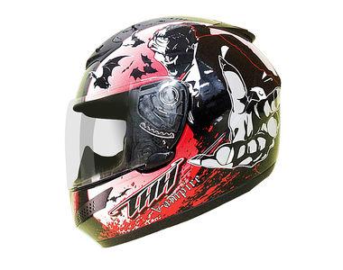THH Helmet Full Face T-76-2 Vampire Black Red