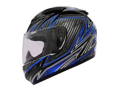 THH Helmet Full Face T-76U-1 Vertex Black Blue