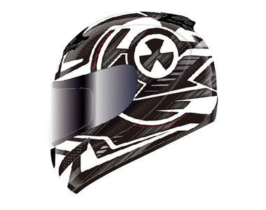 THH Helmet Full Face T-76AP-2 Nuclear White Black