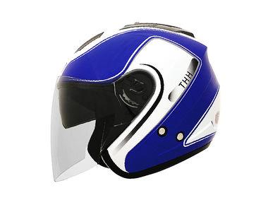 THH Helmet Open Face T-386-2 White Blue