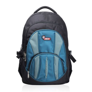 Adios Black Aqua Blue Standard Backpack