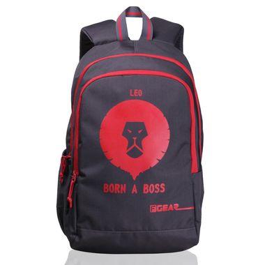 Castle  - Rugged Base Leo Grey Red Backpack