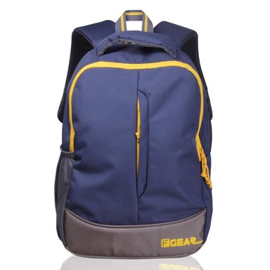 Ferrari Navy Blue Yellow casual backpack