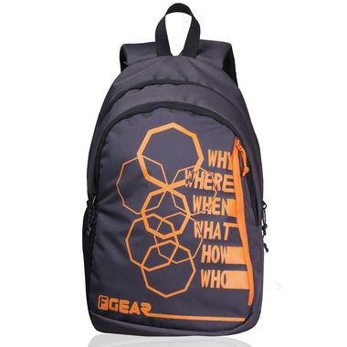 F Gear Diamond Octa 25 Liter Backpack (Grey Orange)