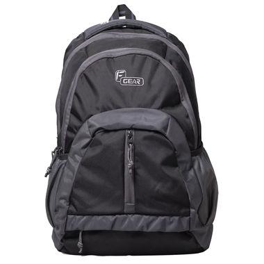 F Gear Intense 27 Liters Laptop Backpack(Black, Grey)
