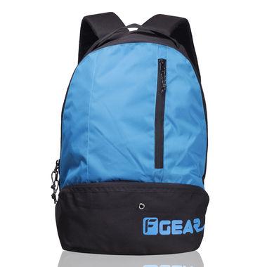 Shock 21.6 L Gym Backpack (Black, Aqua Blue)
