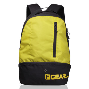 Shock 21.6 L Gym Backpack (Black, Yellow)