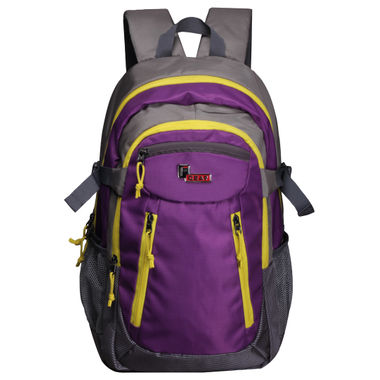 F Gear Profound 30 Liters Laptop Backpack (Purple, Yellow)