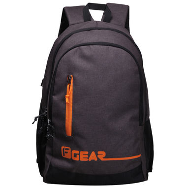 F Gear Bi Frost Denim Coffee Orange 28 Liter Laptop Backpack