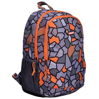 F Gear Castle V2 Printed Orange 27 Liters Backpack Sch Bag