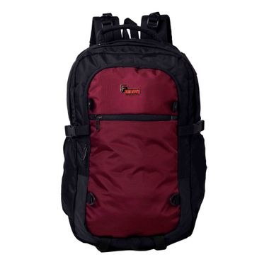 F Gear Olympus 46 Liters Laptop Trekking Sch Bag(Black, Wine)
