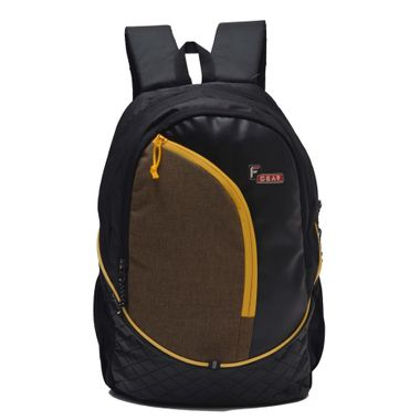 F Gear Curve 29 Liters (Yellow, Black) Casual Backpack