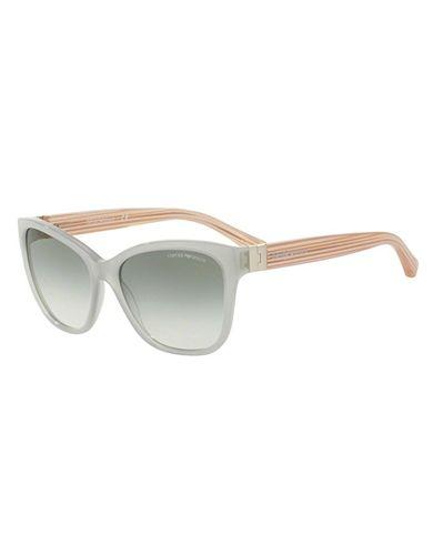 Armani EA4068F Sunglasses 55198E-57 - Opal Grey Green Frame, Green Gradient