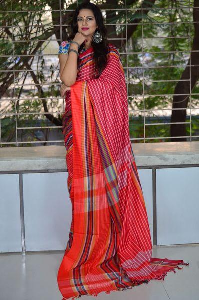 3adb77cc86 sold-out-image Pure Cotton Handloom Gamcha Saree