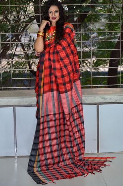 e0e9c1db88 Pure Cotton Handloom Gamcha Saree