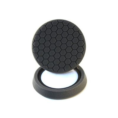 "Chemical Guys 7.5"" Hex Logic Self Centered Black Finishing Pad"