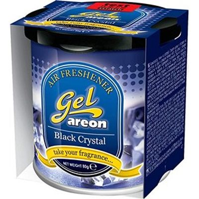 Areon Gel Car Air Freshener - Black Crystal 80gm