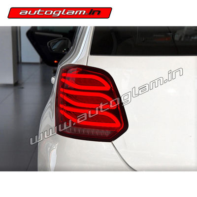 volkswagen polo 2007 17 merc style led tail lights aftermarket agvwp903tl autoglam. Black Bedroom Furniture Sets. Home Design Ideas