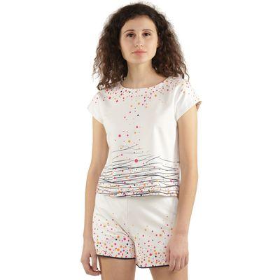 Degrade Dots Print Shorts