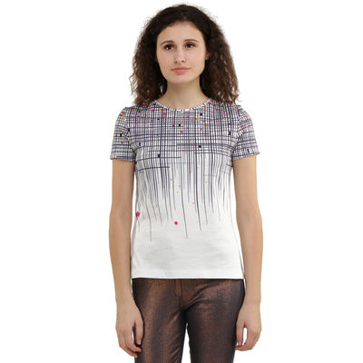 Dots Stripes Degrade Print T-shirt