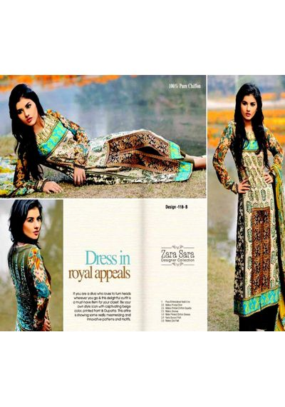 Multicolor Embroided Pakistani Lawn