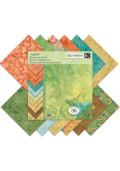 """Nature Designer Paper Pad 12""""X12"""""""