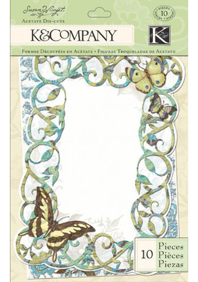 Botanical Acetate Frames with Glitter Accents
