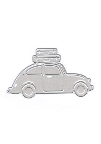 3D Car  With Suitcases  Cut & Emboss - Die