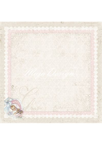 """It's A Girl - Vintage Baby - 12"""" x 12"""" Double Sided Paper Pad"""