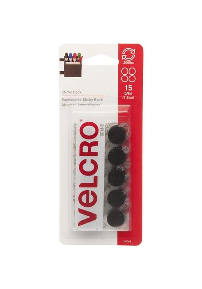 Black Velcro - Self Adhesive Coins