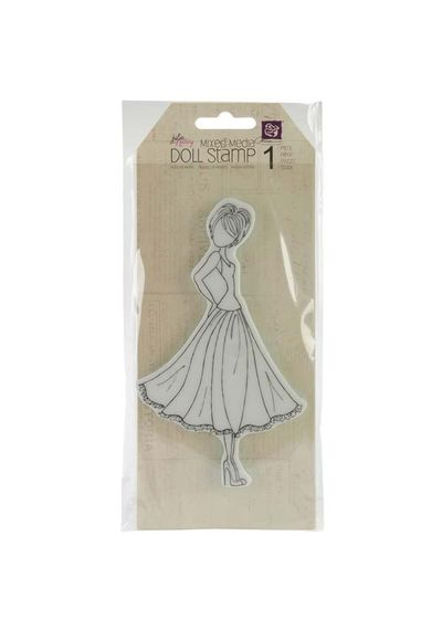 Doll With Swing Dress - Stamp