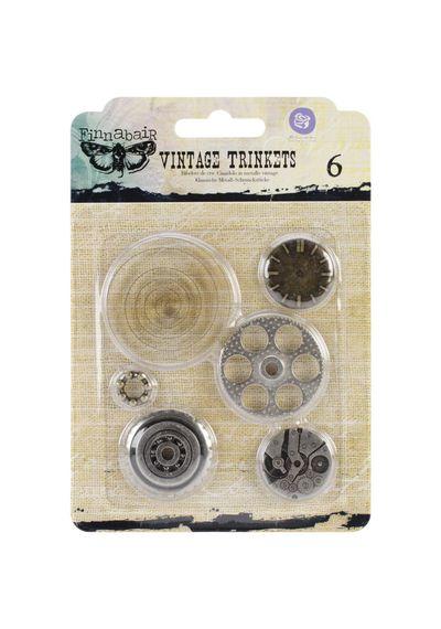 "Washers #2, 1"" To 2"", 6/Pkg Metal Vintage Trinkets"