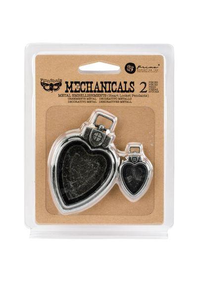 Heart Locket Pendants 2/Pkg