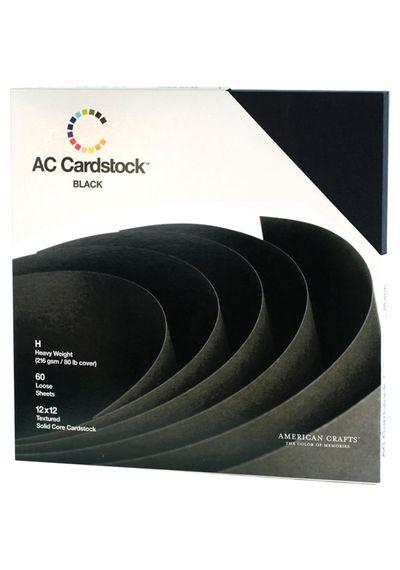 "Black Cardstock - Paper Pack 12""X12"""