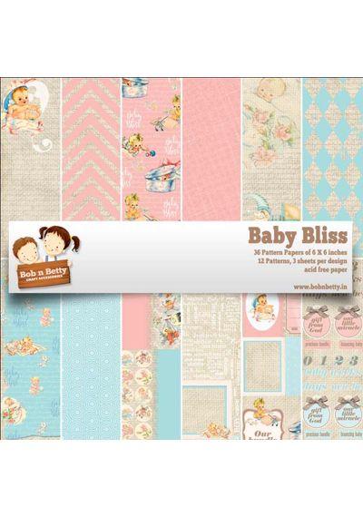 """Baby Bliss Paper Pack 6""""x6"""", 36/pkg"""