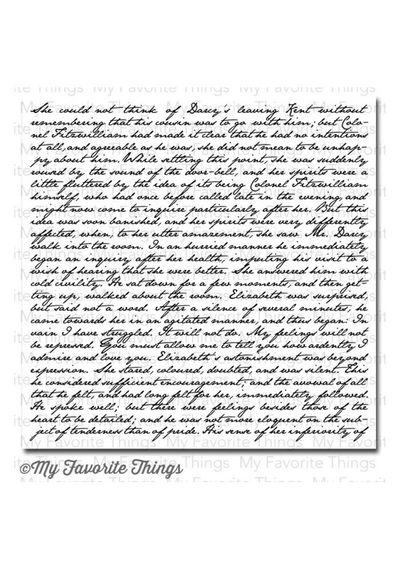 BG Romantic Script Background - Stamp