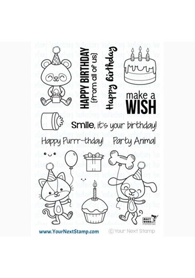 Party Animals - Stamp